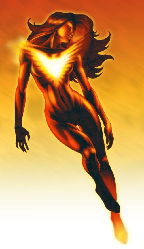 Jean Grey Phoenix illustration by ~WolfeHanson on deviantART
