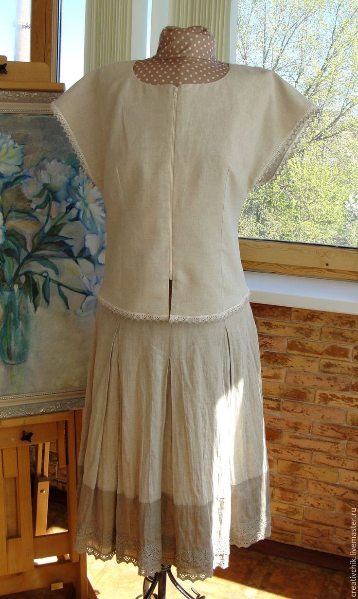 Блузка летняя льняная - женская летняя одежда на заказ, большие размеры