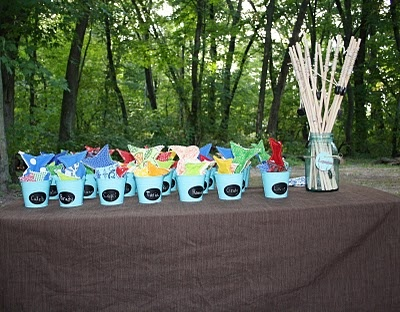 Fishing game party favors