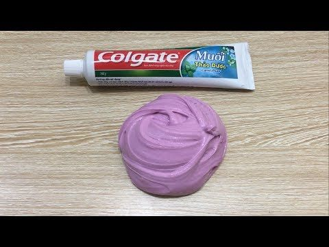 Colgate Toothpaste Slime with Salt !!! NO GLUE, NO BORAX, 2 Ingredients Toothpaste slime - YouTube