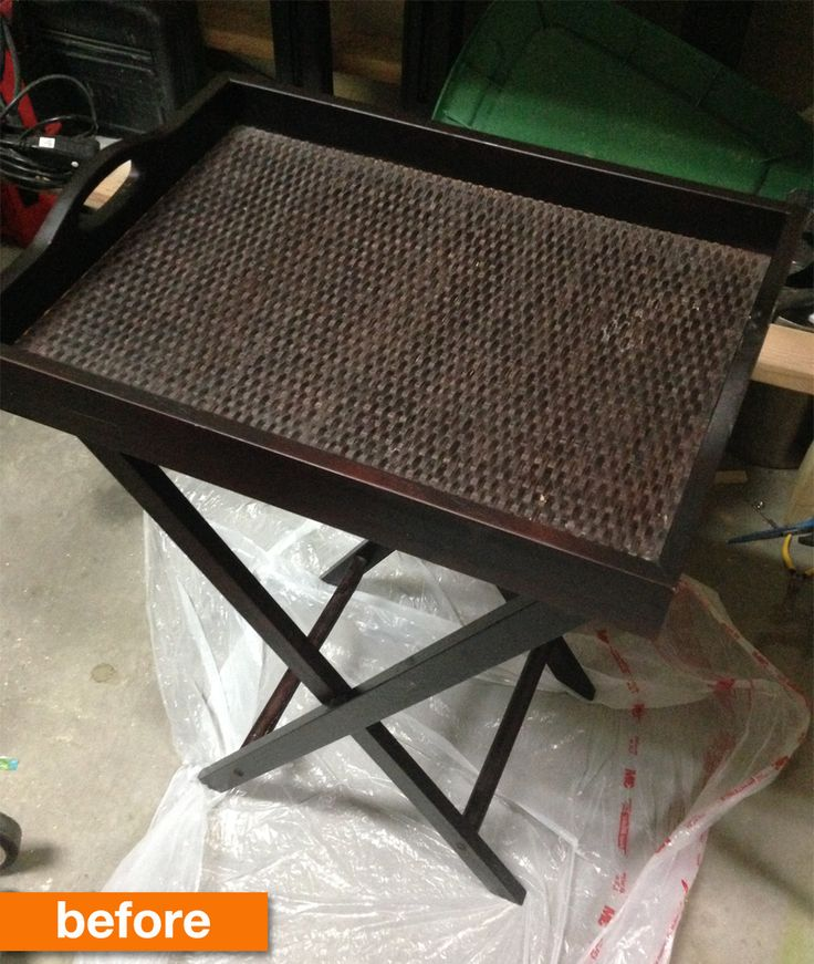 Before U0026 After: A TV Tray Gets A Fresh New Life For Only $21