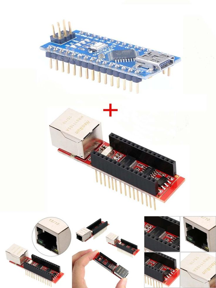 [Visit to Buy] Nano 3.0 Controller board with ENC28J60 Ethernet Shield Module for Arduino  #Advertisement