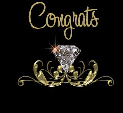 Congrats on your Engagement wedding couple marriage friend diamond engagement congratulations graphic