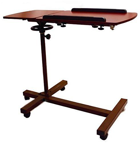 Sharper Image Overbed Adjustable Tilt Table: It's the Swiss Army knife of home workstations.