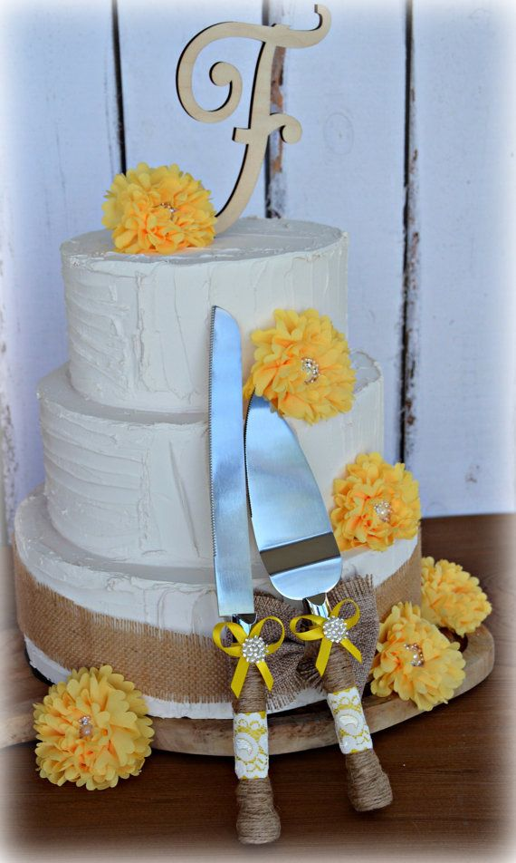 Yellow Rustic Wedding Farmhouse Cottage Chic by ContessaGarters, $34.95