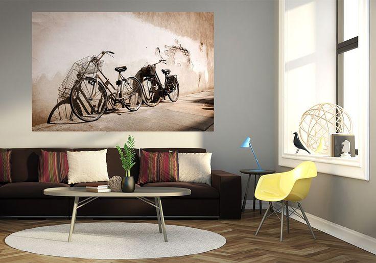 Stare rowery, Włochy - fototapeta   Sklep ePlakaty.pl