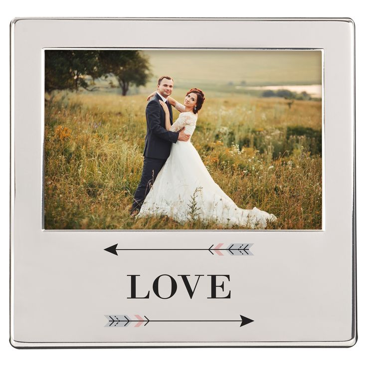 'Love' Arrow Silver Picture Frame