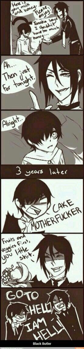 """I AM HELL""<<<oh my gosh someone drew it! I've only ever seen this as the text post (Favorite Cake Butter)"