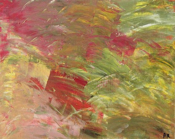 Abstract Landscape - Original Acrylic Painting - Artist Anaïs www.AnaisArtShoppe.etsy.com