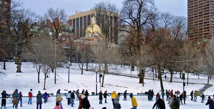 Frog Pond in The Boston Common > America's Coolest Outdoor Skating Rinks | MiniTime.com