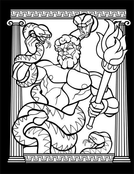 ancient rome gods coloring pages - photo#17
