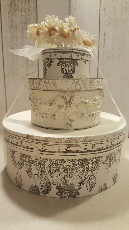Wedding Cake Gift Boxes Made With IODs Stamps And Moulds