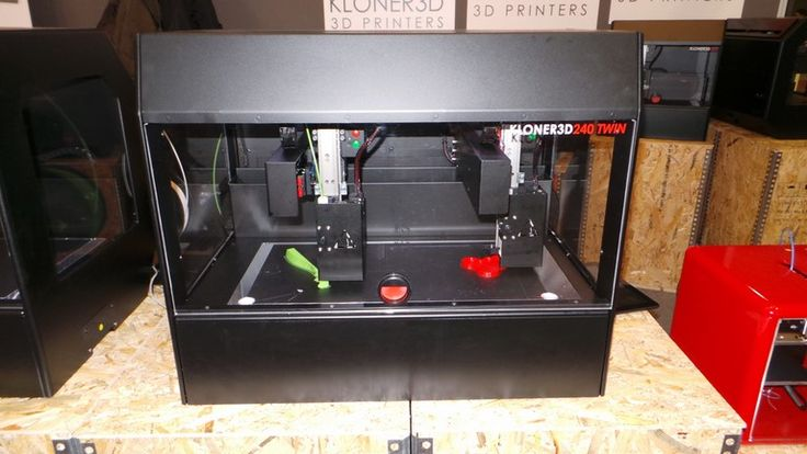 Kloner 240 Twin 3D Printer Features Two Printheads Working Together or Independently. 50 microns