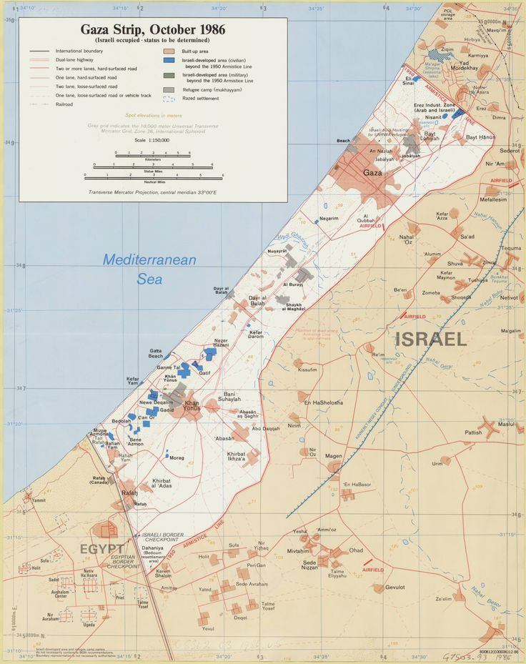 Gaza Strip, October 1986 : (Israeli occupied - status to be determined)