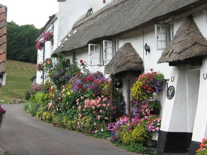 A thatched cottage home in the English countryside - so love these cottages, miss seeing them in person.