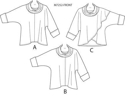 M7252 пуловер шаблон Нэнси Zieman