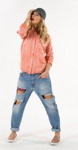 orange shirt Women STAFF Jeans clothes for spring-summer 2016