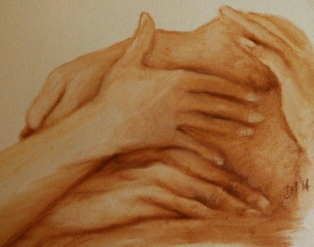 DIALOGO 5, olio su tela, 2014 - Daniela Montanari