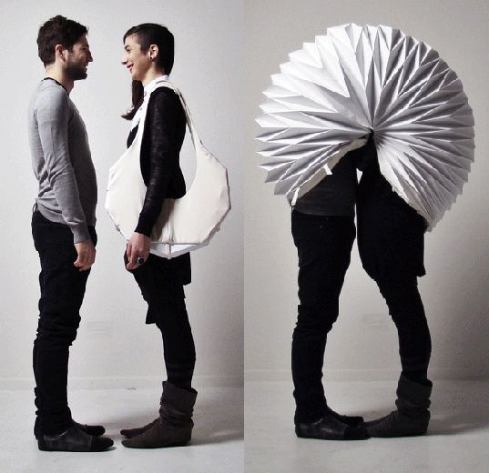 sustainable design, green design, wearable architecture, architectural clothing, treehugger, green architecture, conceptual clothing