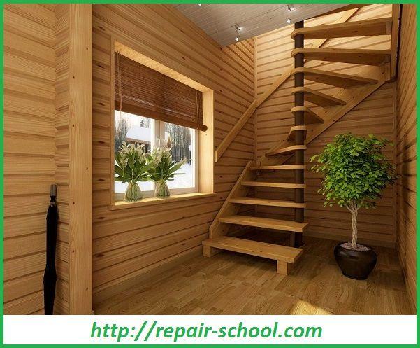 Деревянная лестница второго этажа
