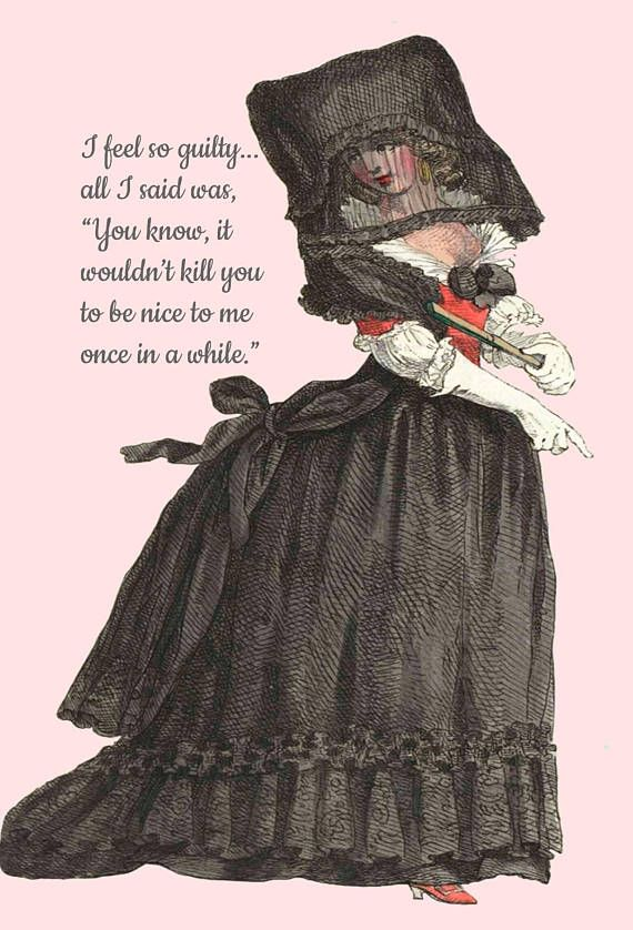 Funny Postcard, I Feel So #Guilty, All I Said Was, You Know It Wouldn't Kill You To Be Nice, Humor, #Black, Funny Quote, Pretty Girl Postcards WHAT ARE PRETTY GIRL POSTCARDS... #hat #friendship #pink #funeral