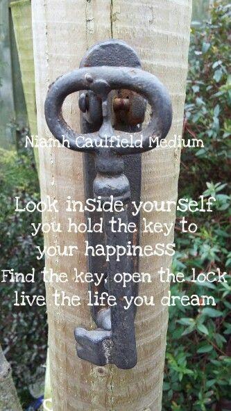 #happiness #internalkey #answerisinside #key #niamhcaulfieldmedium