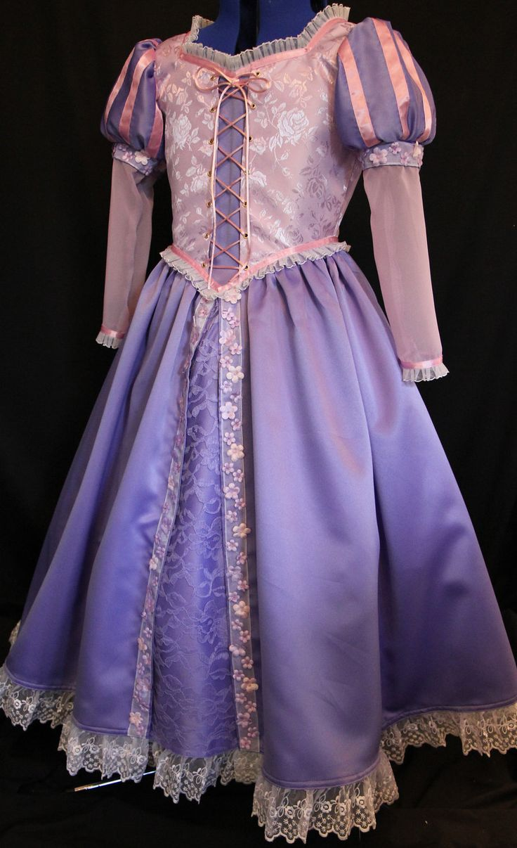 RAPUNZEL Tangled Costume ADULT Custom Size by mom2rtk on Etsy. I would SO get this is it weren't so expensive