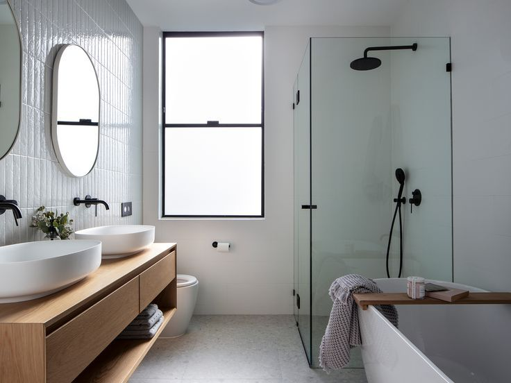 We Reveal 4 Hot Bathrooms In A Sydney Renovation With Images Bathroom Feature Wall Bathroom Design Bathroom Layout