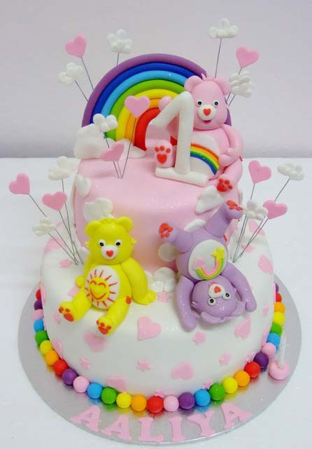 care bear birthday cake...maybe, just maybe, the coolest cake every!!!