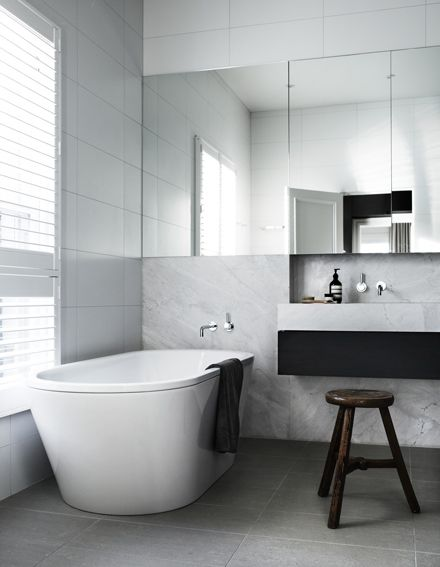 The bathroom of a Toorak House by Robson Rak Architects, shortlisted in the Interior Design Excellence Awards 2014. Image - Sharyn Cairns.