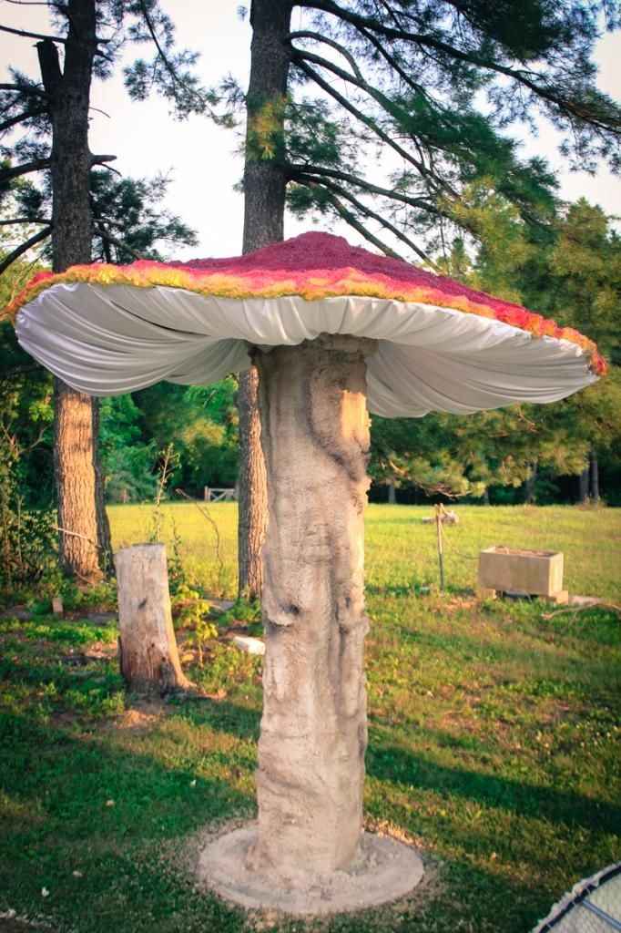 I originally built these Giant Mushrooms for