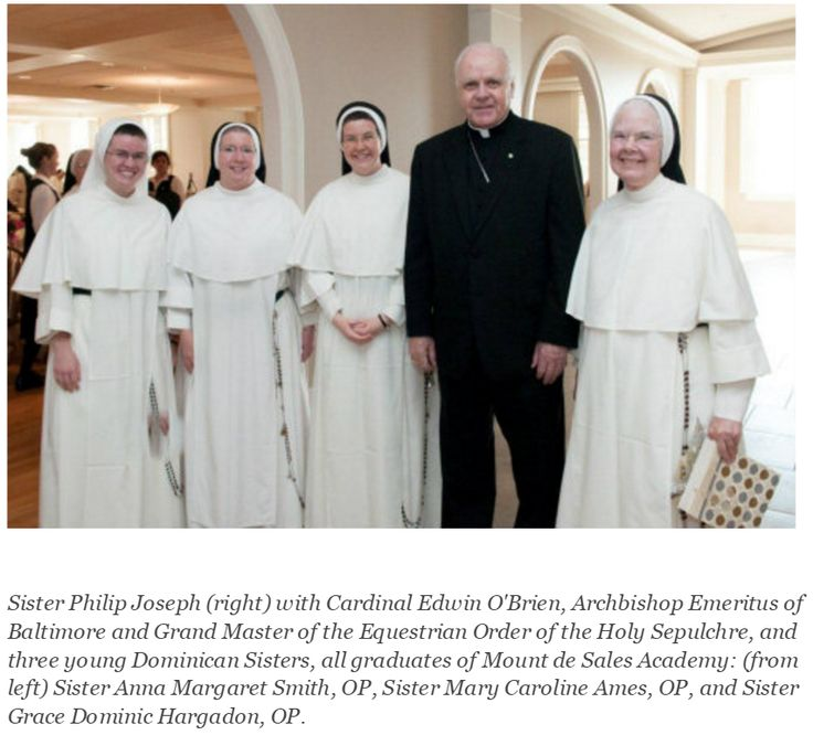 3 MDSA graduates who have entered the Dominicans of St. Cecilia, who teach there