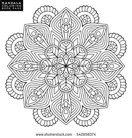 Flower Mandalas. Vintage mandalas, elements mandala