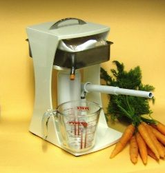 The Health Stream Juice Press, in combination with a Juicer, does the job more thoroughly and produces a better quality juice than from a Juicer alone.  the Health Stream Juice Press ensures that not only more vegetable and fruit juice is extracted but an even higher concentration of nutrient and mineral content is extracted.