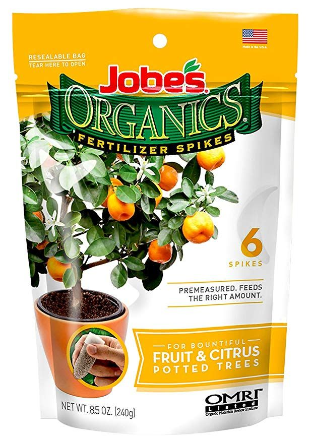 Jobe S Organics Fruit Citrus Tree Fertilizer Spikes 3 5 5 Time Release Fertilizer For All Container Or In Organic Fruit Dwarf Fruit Trees Indoor Fruit Trees