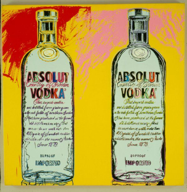 """Absolut Vodka is launching a limited edition Andy Warhol bottle, which recreates the bottle that the artist designed in 1986 for the """"Absolut Warhol"""" ad."""