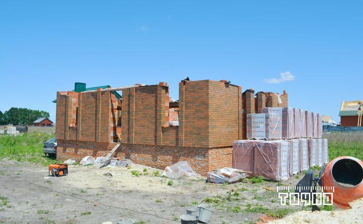 Строительство индивидуального жилого дома, по адресу: Тамбовская область, Тамбовский район,  д. Крутые Выселки, проспект Архитектурный, дом 42.   #строительство #жилого #дома #Тамбов