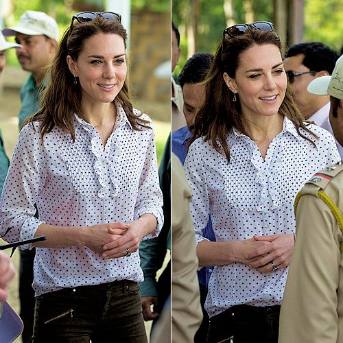Catherine, Duchess of Cambridge takes a Game drive at Kaziranga National Park in Guwahati, India // April 13, 2016