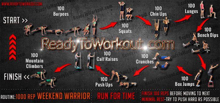 1000 Rep Weekend Warrior Workout Routine