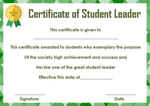 Student Leadership Certificate 10+ Best Student Leadership