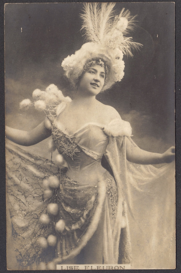 French Stage Performer Lise Fleuron, circa 1905. $14.00, via Etsy.