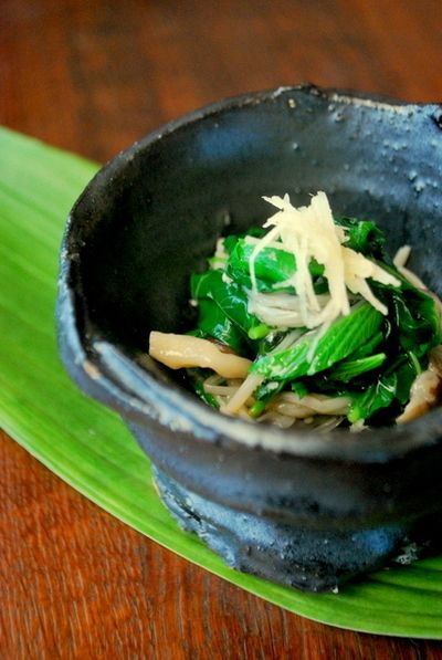 菌活レシピで美しく!キノコの常備菜とモロヘイヤの冷たい一皿 by ...