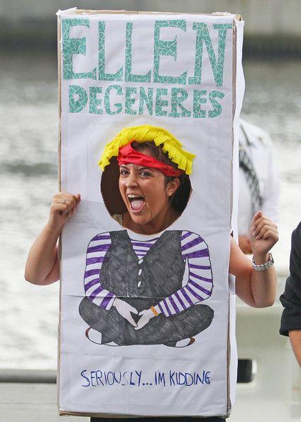 An Ellen fan screams as a live cross is filmed as part of the Ellen television show on February 27, 2013 in Melbourne, Australia. Ellen Dege...