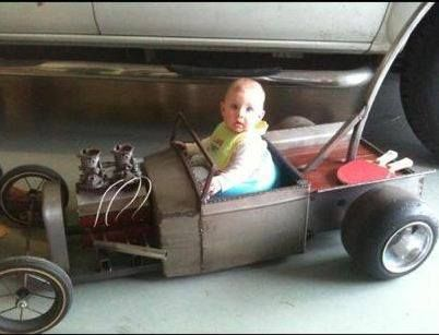 Awesome little Tot rod truck.