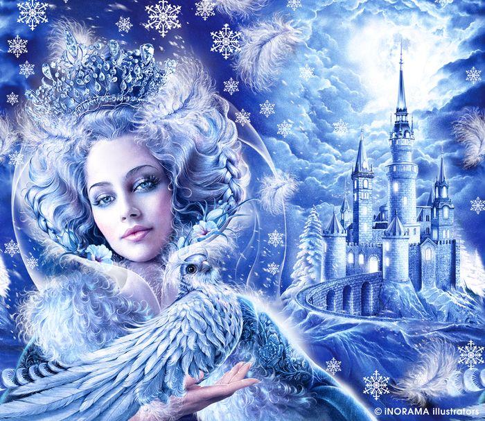 Картинка с зимушкой