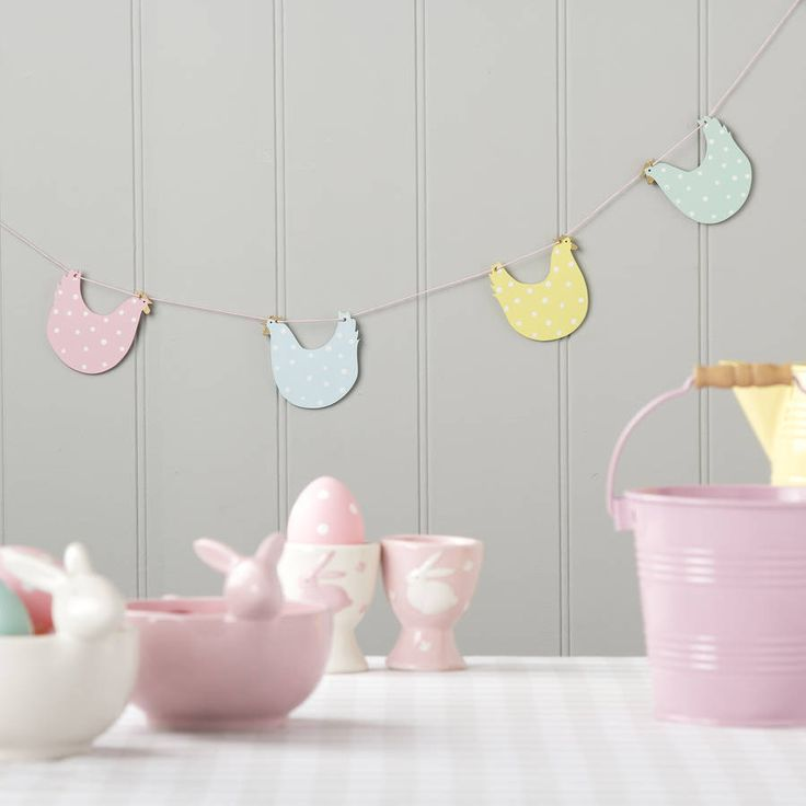 Pastel chicken easter garland by the easter home pastel chicken easter garland by the easter home notonthehighstreet spring deco pinterest easter garland garlands and easter negle Images