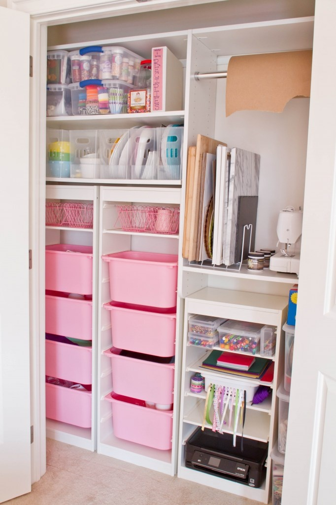 craft closet storage ideas one of the things i like most about this is the plastic 3760