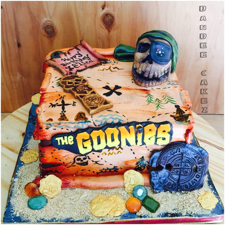 The Goonies Cake check IG for Video of this cake and follow me