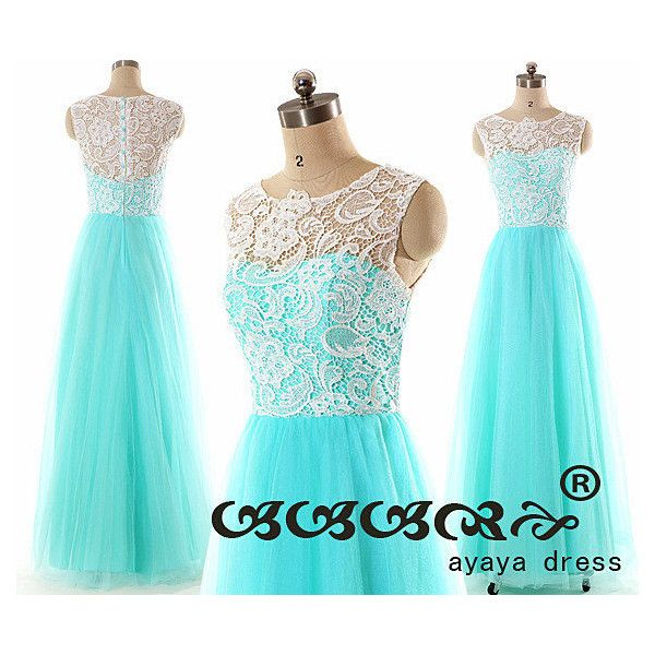 Lace prom dressLace Bridesmaid Dress Prom Dresses by ayayadress (210 BAM) found on Polyvore