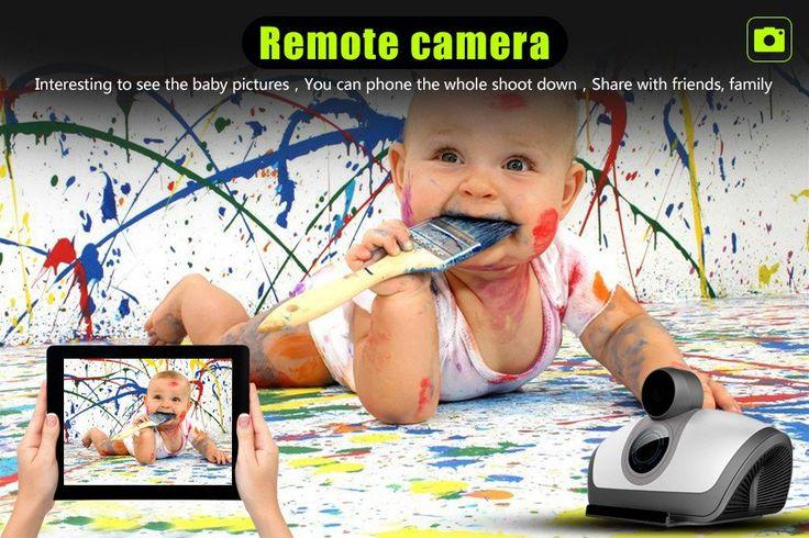Promotion multifunction Baby Monitor 2 way talking Wifi ip camera baby camera monitor Bluetooth loudspeaker smart Led